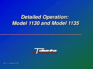 Detailed Operation:  Model 1130 and Model 1135