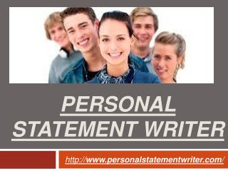 Personal Statement Writing