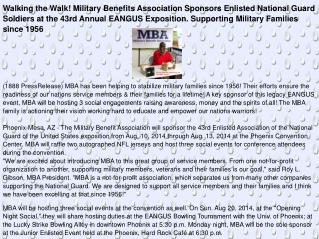 Walking the Walk! Military Benefits Association Sponsors