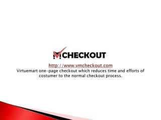 one-page checkout virtuemart 2