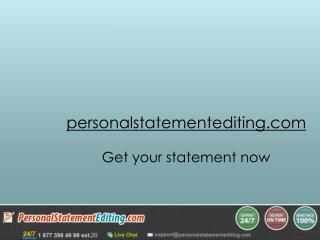 Personal Statement Editing