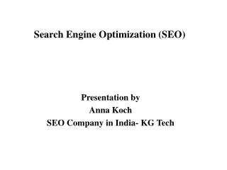 Tutorial and  Basics of SEO  - SEO Company in India