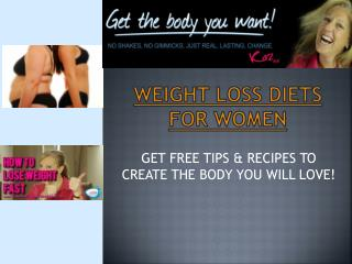Weight Loss Diet Plan For Women
