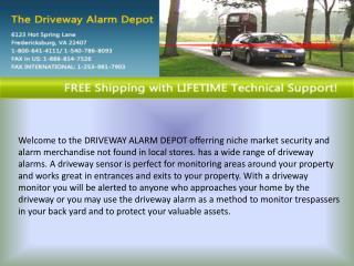 Wireless driveway alert system