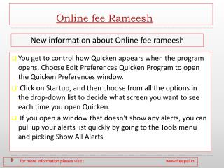 Get details about how to submitted online fee rameesh