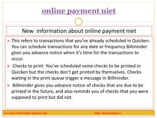 One of The best online payment niet