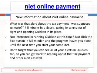 Now you can open a niet online payment  account for free