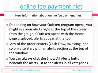 Tips for choosing the best online fee payment niet