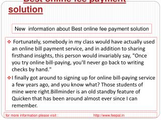 Some Logical Facts about best online fee payment solution
