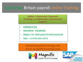 sap great britain payroll online training in Australia