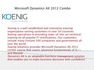 Microsoft Dynamics AX 2012 Training