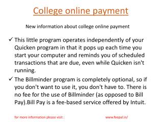 Feepal  launches websites of college online payment