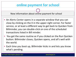 Now you can also pay your fee online payment for school