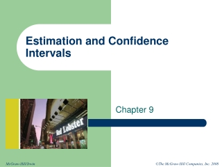 Chapter 3 Estimation and Computation