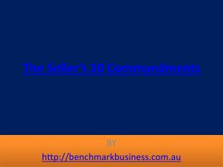 The Seller's 10 Commandments