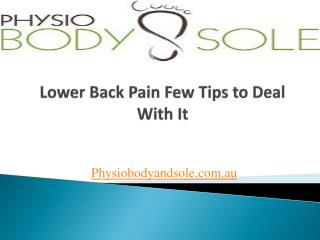 Lower Back Pain Some Tips to Manage It