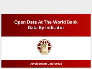 Open Data At The World Bank Data By Indicator