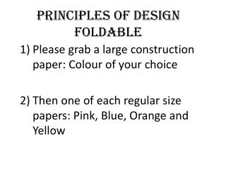 Principles of Design  Foldable