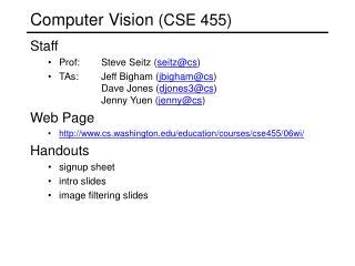 Computer Vision  (CSE 455)