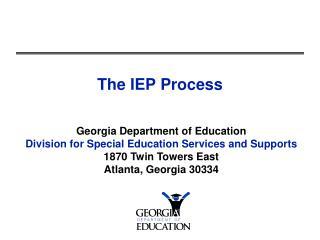The IEP Process