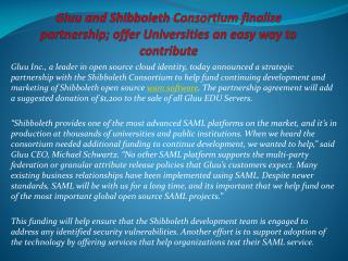 Gluu and Shibboleth Consortium finalize partnership; offer U