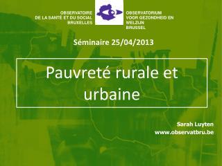 Pauvreté rurale et urbaine