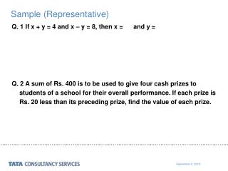Sample (Representative)