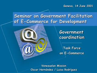 Seminar on Government Facilitation of E-Commerce for Development