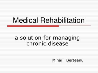 a solution for managing chronic disease