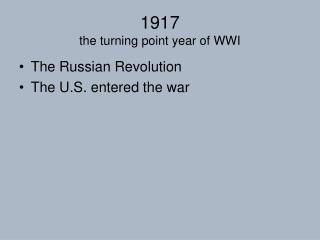 1917  the turning point year of WWI