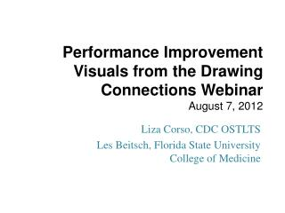 Performance Improvement Visuals from the Drawing Connections Webinar August 7, 2012
