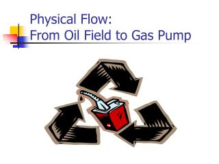 Physical Flow: From Oil Field to Gas Pump