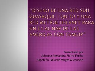 Presentado por  Johanna Alexandra Fierro Fariño  Napoleón Eduardo Vargas  Aucancela