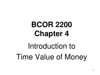 BCOR 2200 Chapter  4