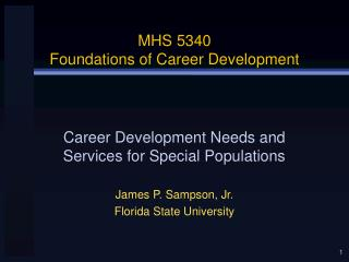 MHS 5340 Foundations of Career Development
