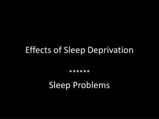 sleep deprivation and its effects Sleep deprivation (sd) affects attention but it is an open question as to whether all subtypes of attention are similarly affected we investigated the effects of 24 h of total sd on object-selective attention 26 healthy, young adults viewed quartets of alternating faces or place scenes and performed selective judgments on faces only, scenes only or both faces and scenes.