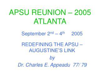 APSU REUNION � 2005 ATLANTA