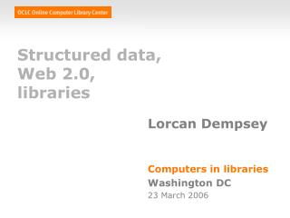 Structured data, Web 2.0, libraries