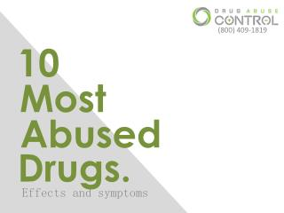 10 Most Abused Drugs