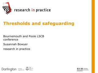 Thresholds and safeguarding