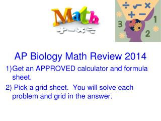 AP Biology Math Review 2014