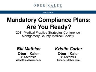 Mandatory Compliance Plans: Are You Ready?