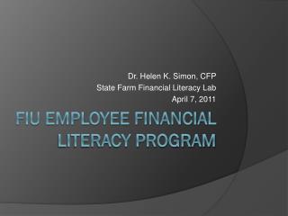 FIU Employee Financial Literacy Program