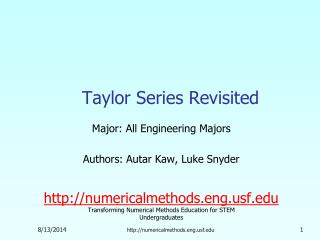 Taylor Series Revisited