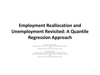 Employment Reallocation and Unemployment Revisited: A Quantile Regression Approach