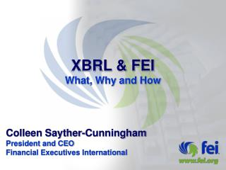 XBRL & FEI What, Why and How