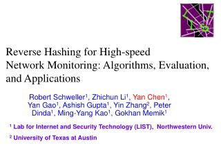 Reverse Hashing for High-speed  Network Monitoring: Algorithms, Evaluation, and Applications