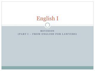 English I