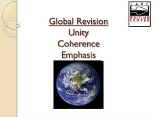 Global Revision Unity Coherence Emphasis