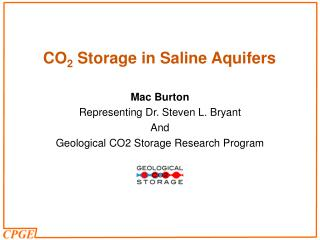 CO 2  Storage in Saline Aquifers